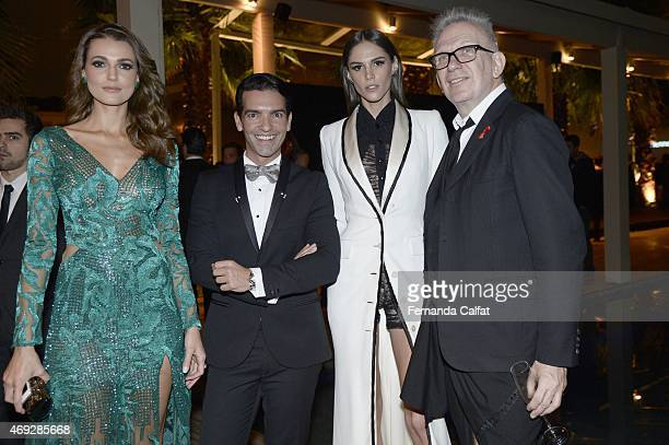 Marianne FonsecaRafael MendoncaDanielle Pontes and Jean Paul Gaultier attend the 5th Annual amfAR Inspiration Gala at the home of Dinho Diniz on...