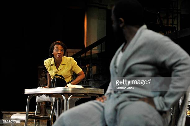 Marianne JeanBaptiste as Margaret Alexander and Lucian Msamati as Luke in James Baldwin's The Amen Corner directed by Rufus Norris at the National...