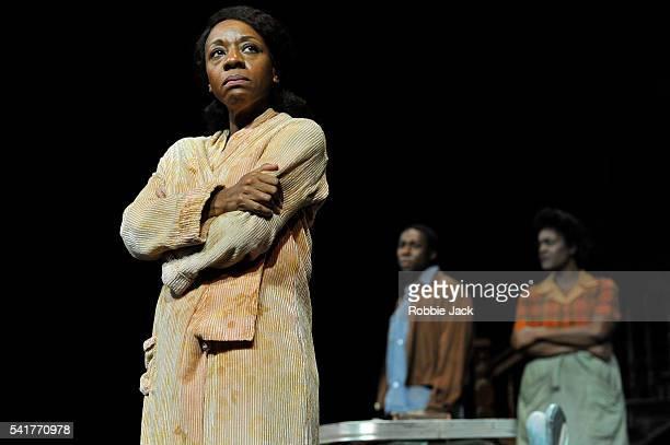 Marianne JeanBaptiste as Margaret Alexander Eric Kofi Abrefa as David and Sharon D Clarke as Odessa in James Baldwin's The Amen Corner directed by...