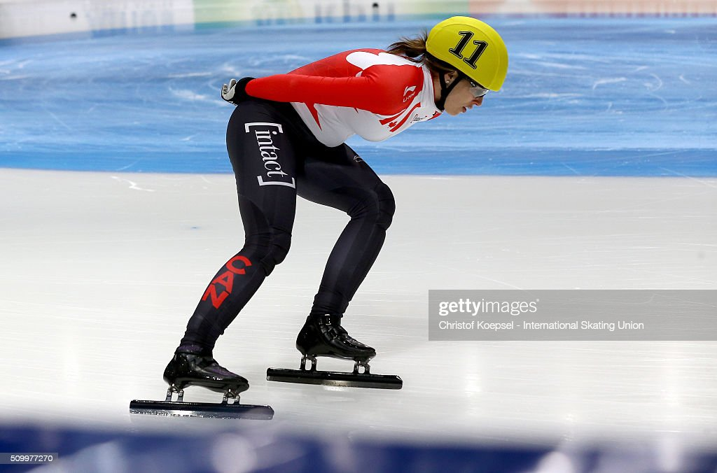 <a gi-track='captionPersonalityLinkClicked' href=/galleries/search?phrase=Marianne+St-Gelais&family=editorial&specificpeople=5579569 ng-click='$event.stopPropagation()'>Marianne St-Gelais</a> of Canada skates during the ladies 1500m final A during Day 2 of ISU Short Track World Cup at Sportboulevard on February 13, 2016 in Dordrecht, Netherlands.