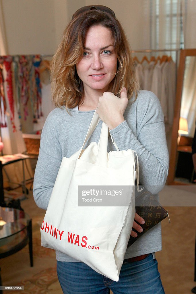 Marianne Tolstoy shops at the Johnny Was Holiday Gifting Suite at Chateau Marmont on December 13, 2012 in Los Angeles, California.