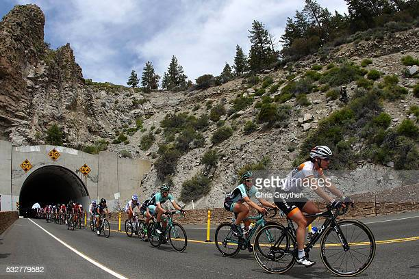 Marianne Vos of the Netherlands riding for RaboLiv Women Cycling Team rides in the peloton during stage one of the Amgen Breakaway from Heart Disease...