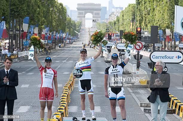 Marianne Vos win the 'La Course by Le Tour de France' before Stage 21 of the Tour de France on Sunday 27 July Paris France