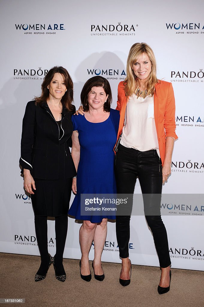 Marianne Wiliamson, Beth Friedman and Kathy Freston attend WOMEN A.R.E Inaugural Summit Presented By PANDORA at SLS Hotel on November 7, 2013 in Beverly Hills, California.