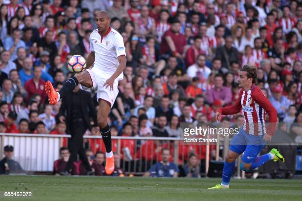 Mariano #3 of Sevilla FC during The La Liga match between Atletico Madrid v Valencia FC at Vicente Calderon on March 19 2017 in Madrid Spain