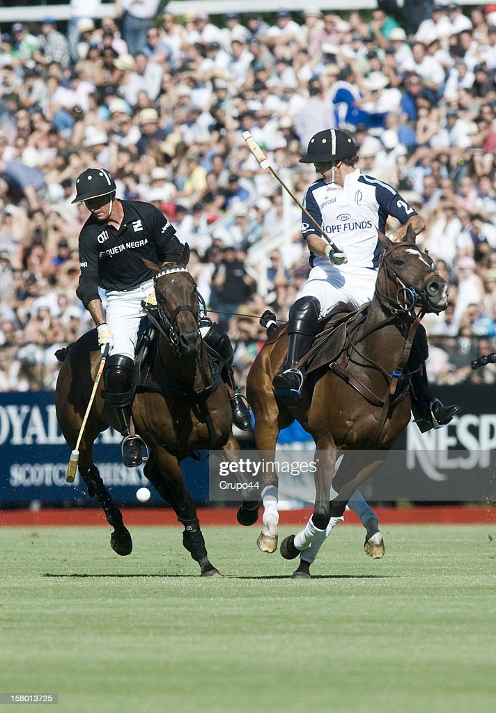 Mariano Aguerre of Ellerstina in action during a polo match between La Dolfina and Ellerstina as part of the 119th Argentina Open Polo Championship Final on December 08, 2012 in Buenos Aires, Argentina.