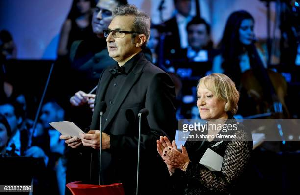 Mariano Barroso and Yvonne Blake attends the 31st edition of the 'Goya Cinema Awards' ceremony at Madrid Marriott Auditorium on February 4 2017 in...