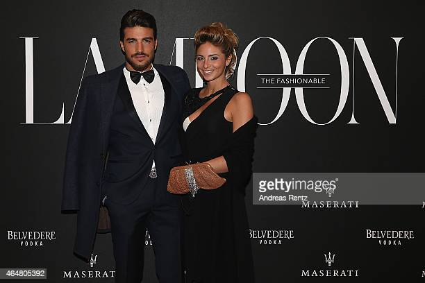 Mariano Di Vaio and Eleonora Brunacci attend the 'The Misia Ball' Lampoon Launch Party during the Milan Fashion Week Autumn/Winter 2015 on February...