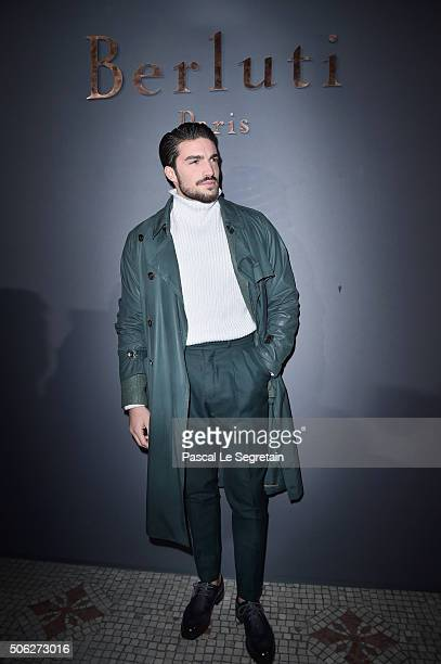 Mariano Di Vaio attends the Berluti Menswear Fall/Winter 20162017 show as part of Paris Fashion Week on January 22 2016 in Paris France