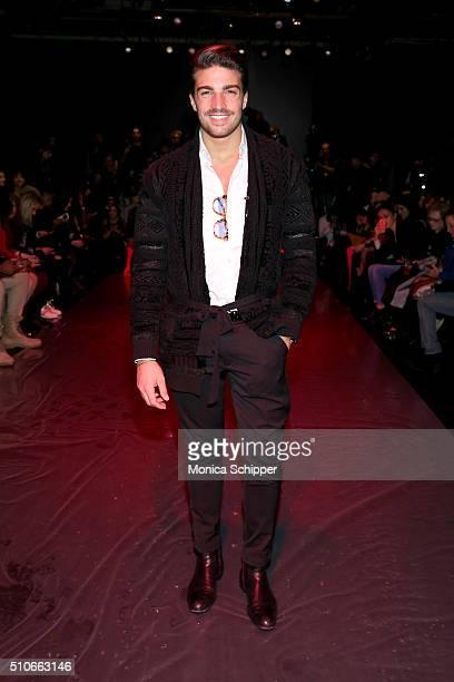 Mariano Di Vaio attends the Chiara Boni La Petite Robe Fall 2016 fashion show during New York Fashion Week The Shows at The Dock Skylight at Moynihan...