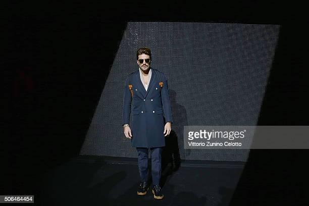 Mariano Di Vaio attends the Dior Menswear Fall/Winter 2016/2017 fashion show at Tennis Club de Paris on January 23 2016 in Paris France