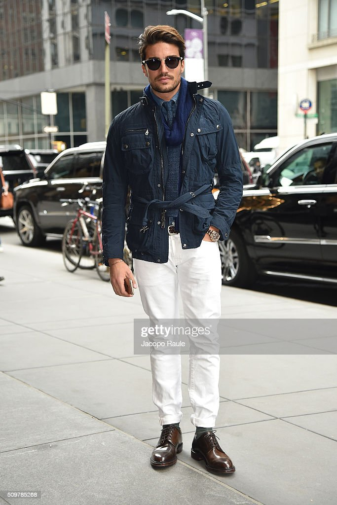 Mariano Di Vaio is seen arriving at Polo Ralph Lauren presentation during Fall 2016 New York Fashion Week on February 12, 2016 in New York City.