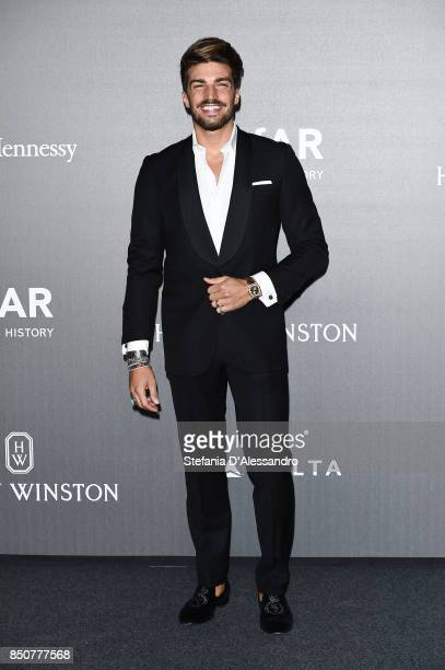 Mariano Di Vaio walks the red carpet of amfAR Gala Milano on September 21 2017 in Milan Italy