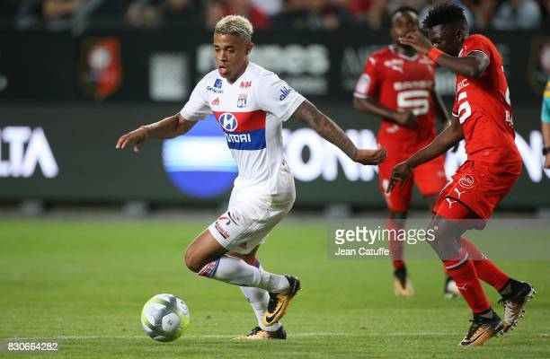 Mariano Diaz of Lyon during the French Ligue 1 match between Stade Rennais and Olympique Lyonnais at Roazhon Park on August 11 2017 in Rennes France