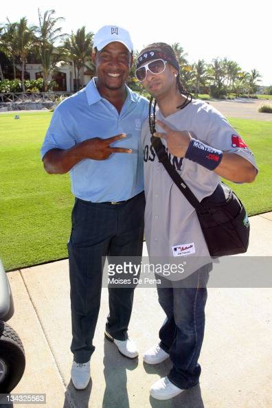 Mariano Duncan and Angel Lucas Pena attends the David Ortiz Celebrity Golf Classic Golf Tournament on December 5 2009 in Cap Cana Dominican Republic
