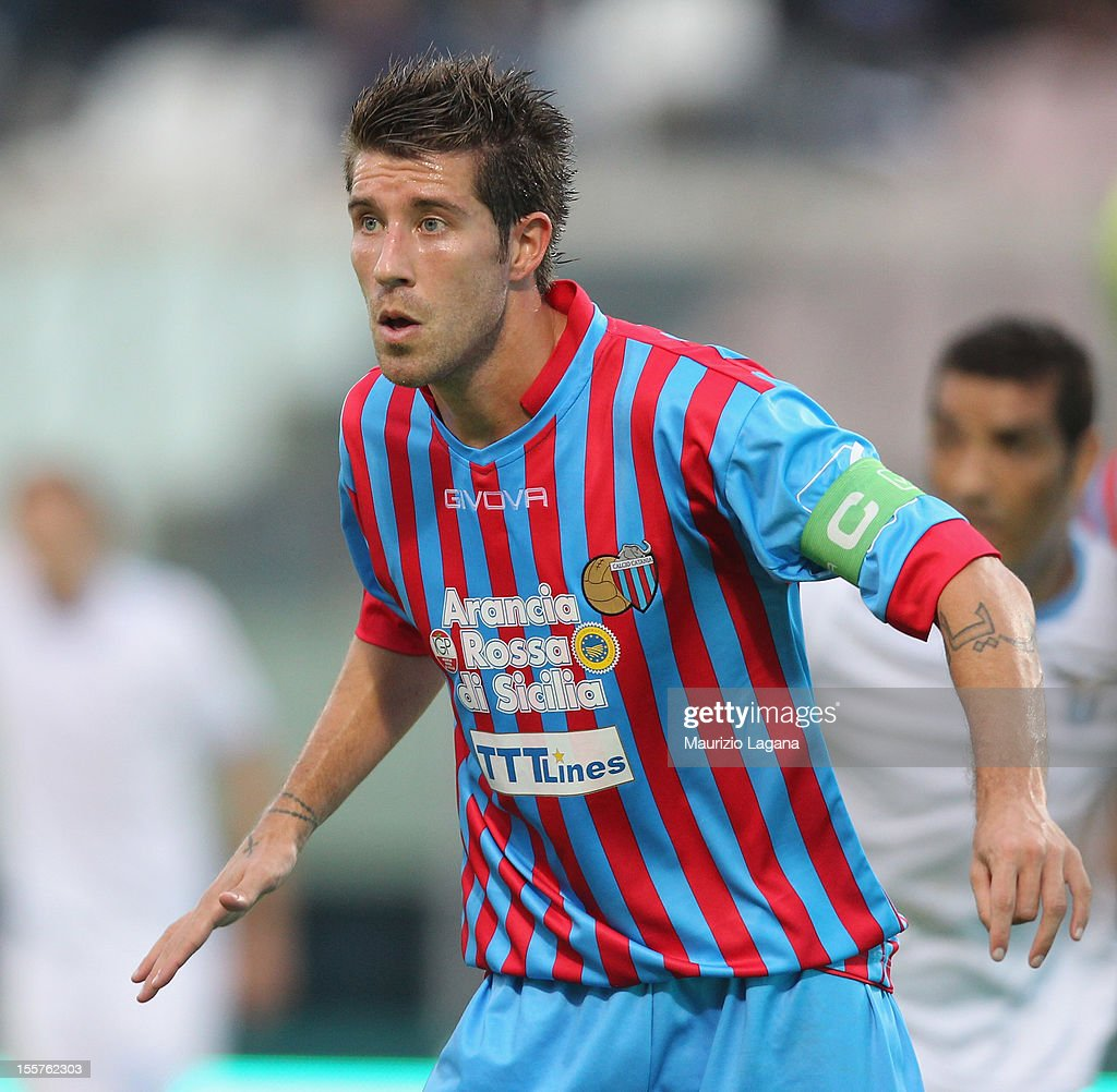 Mariano Izco of Catania during the Serie A match between Calcio Catania and S.S. Lazio at Stadio Angelo Massimino on November 4, 2012 in Catania, Italy.