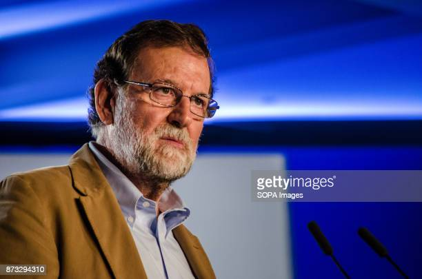 Mariano Rajoy President of the Spanish Government during the political ral The Popular Party of Catalonia has counted with the presence of the...