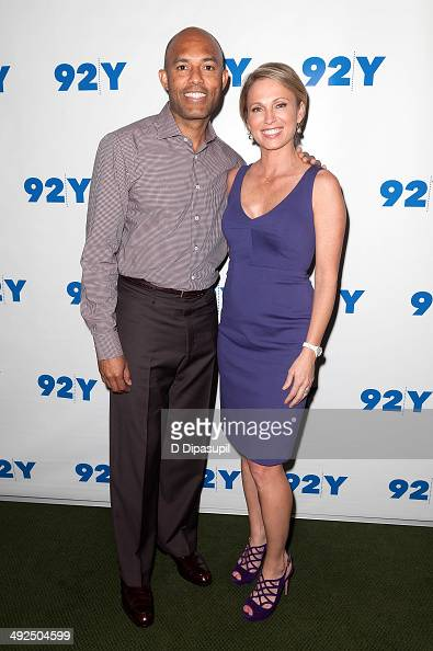 Mariano Rivera and Amy Robach attend an evening with Mariano Rivera at 92nd Street Y on May 20 2014 in New York City