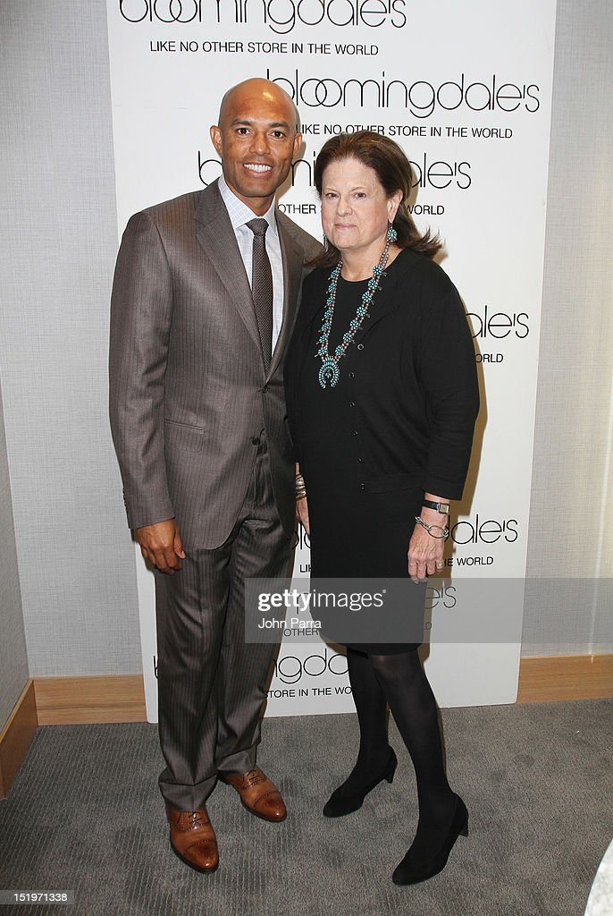 Mariano Rivera and Anne Keating Senior Vice President Public Relations attends Bloomingdale's 59th Street and Canali welcome Mariano Rivera in support of the Mariano Rivera Foundation at Bloomingdale's 59th Street Store on September 13, 2012 in New York City.