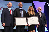 Mariano Rivera and Thalia attend the 4th Annual People en Espanol Festival at Jacob Javitz Center on October 18 2015 in New York City