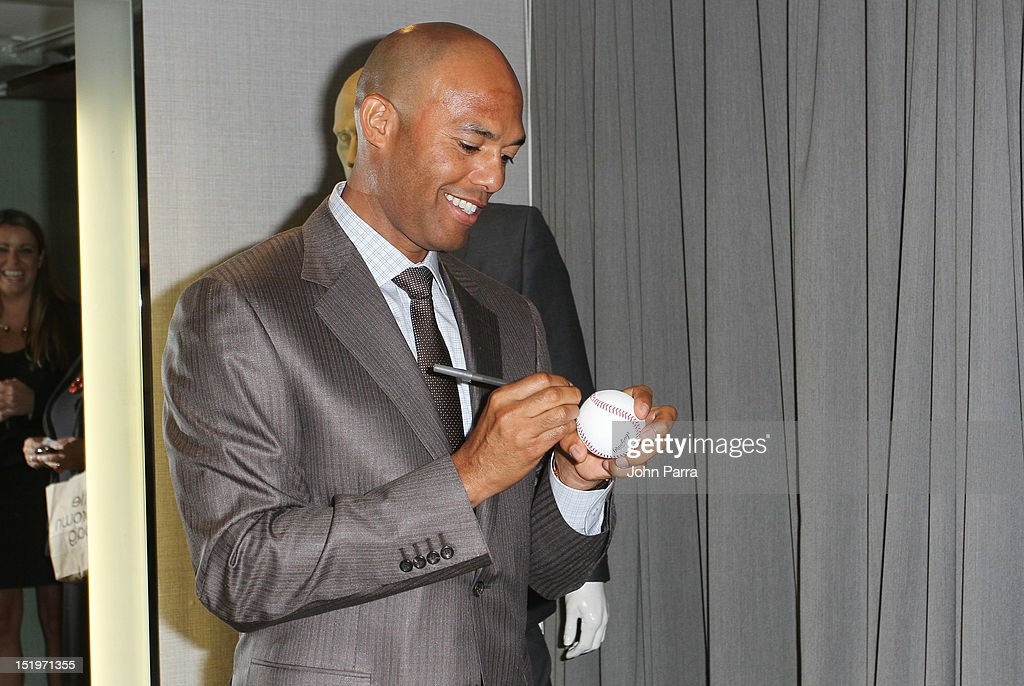 Mariano Rivera attend the Bloomingdale's 59th Street and Canali welcome Mariano Rivera in support of the Mariano Rivera Foundation at Bloomingdale's 59th Street Store on September 13, 2012 in New York City.