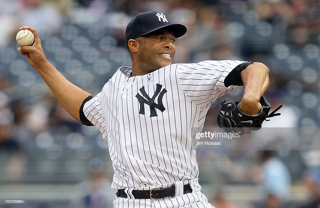 <a gi-track='captionPersonalityLinkClicked' href=/galleries/search?phrase=Mariano+Rivera&family=editorial&specificpeople=201607 ng-click='$event.stopPropagation()'>Mariano Rivera</a> #42 of the New York Yankees delivers a pitch against the New York Mets on June 20, 2010 at Yankee Stadium in the Bronx borough of New York City. The Yankees defeated the Mets 4-0.