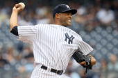 Mariano Rivera of the New York Yankees delivers a pitch against the New York Mets on June 20 2010 at Yankee Stadium in the Bronx borough of New York...