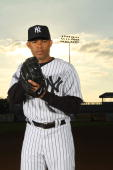 Mariano Rivera of the New York Yankees poses for a photo during Spring Training Media Photo Day at George M Steinbrenner Field on February 25 2010 in...