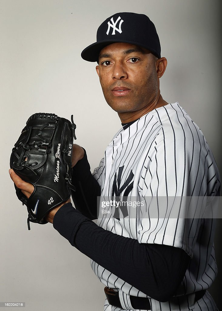 <a gi-track='captionPersonalityLinkClicked' href=/galleries/search?phrase=Mariano+Rivera&family=editorial&specificpeople=201607 ng-click='$event.stopPropagation()'>Mariano Rivera</a> #42 of the New York Yankees poses for a portrait on February 20, 2013 at George Steinbrenner Stadium in Tampa, Florida.