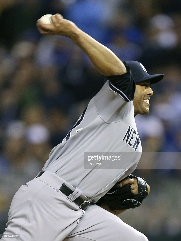 <a gi-track='captionPersonalityLinkClicked' href=/galleries/search?phrase=Mariano+Rivera&family=editorial&specificpeople=201607 ng-click='$event.stopPropagation()'>Mariano Rivera</a> #42 of the New York Yankees throws in the ninth inning against the Kansas City Royals at Kauffman Stadium on May 11, 2013 in Kansas City, Missouri.