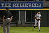 Mariano Rivera of the New York Yankees trots to the pitching mound to pitch the 9th inning against the Chicago White Sox at US Cellular Field on...