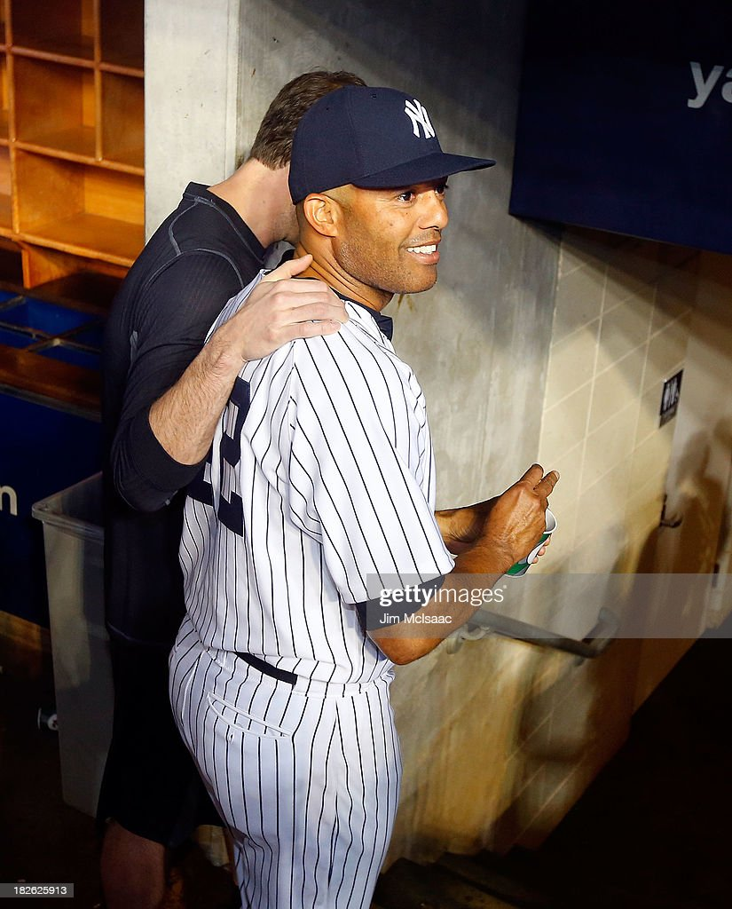 Mariano Rivera #42 of the New York Yankees walks to the clubhouse after a game against the Tampa Bay Rays at Yankee Stadium on September 26, 2013 in the Bronx borough of New York City. The Rays defeated the Yankees 4-0.