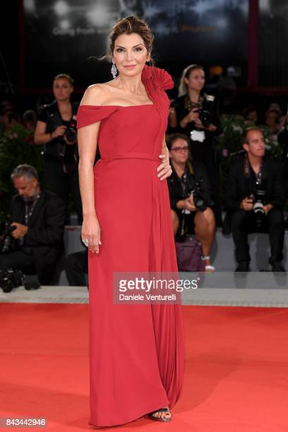 Mariapia Calzone walks the red carpet ahead of the 'Loving Pablo' screening during the 74th Venice Film Festival at Sala Grande on September 6 2017...