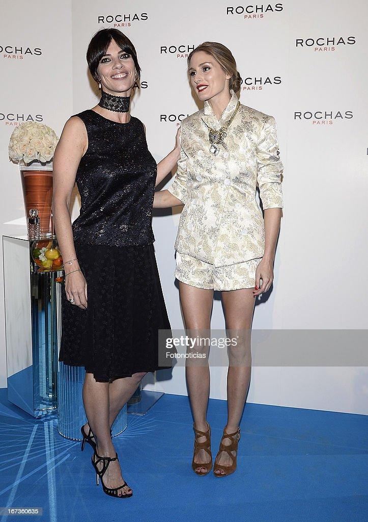 Maribel Verdu and Olivia Palermo attend 'Tribut to Freshness and Rochas Women' event at the French embassy on April 24, 2013 in Madrid, Spain.