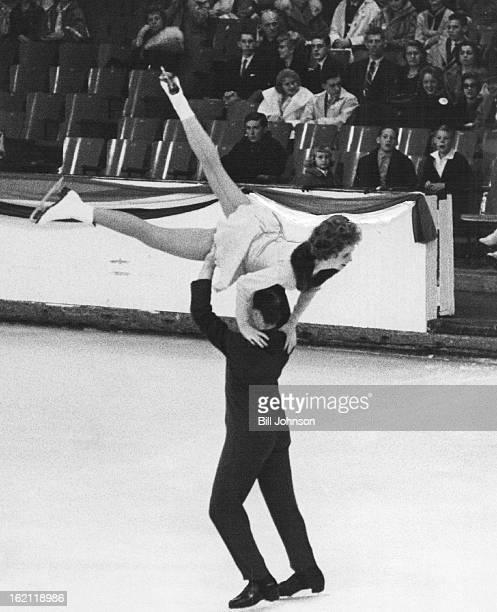 JAN 28 1961 Maribel Y Owens Dudley Richards Boston Senior Pairs champions BOSTON PAIR EXHIBITS CHAMPIONSHIP FORM Dudley Richards lifts Maribel Y Owen...