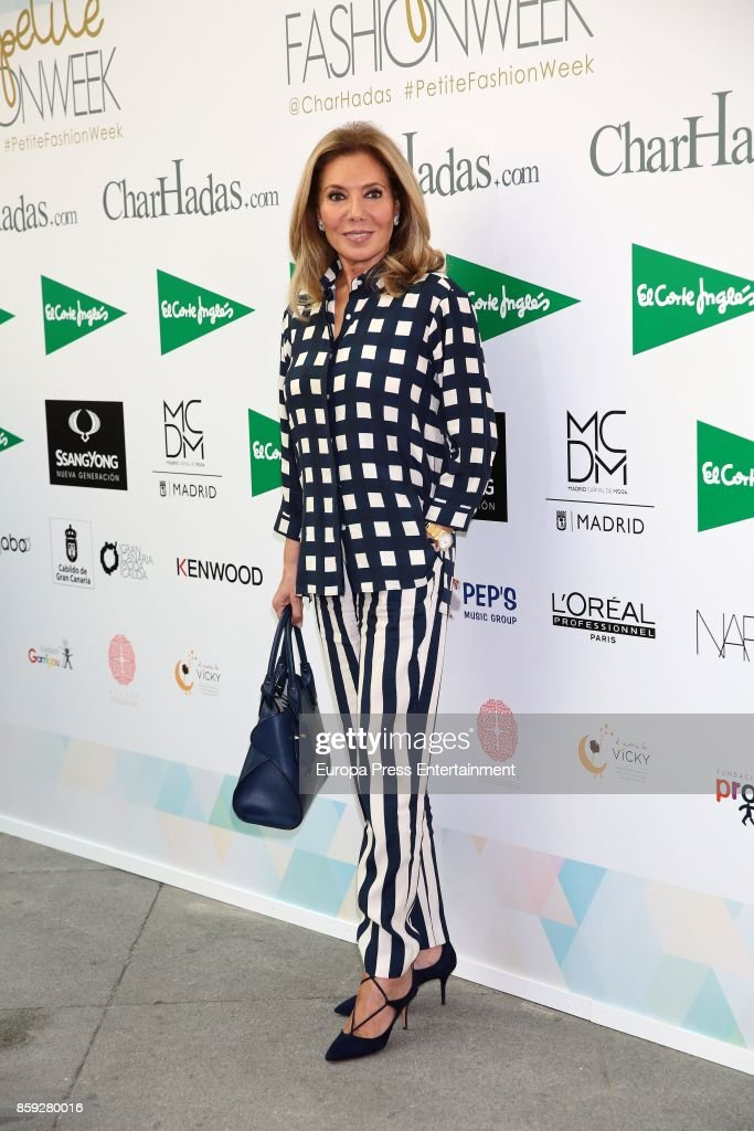 Maribel Yebenes attends 'The Petite Fashion Week' Photocall at Cibeles Palace on October 6, 2017 in Madrid, Spain.