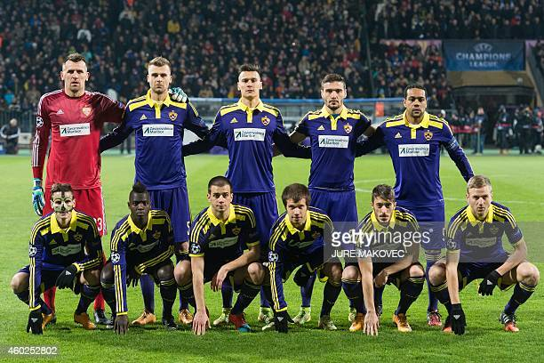 NK Maribor's players pose before the UEFA Champions League Group G football match between NK Maribor and FC Schalke 04 in Maribor Slovenia on...