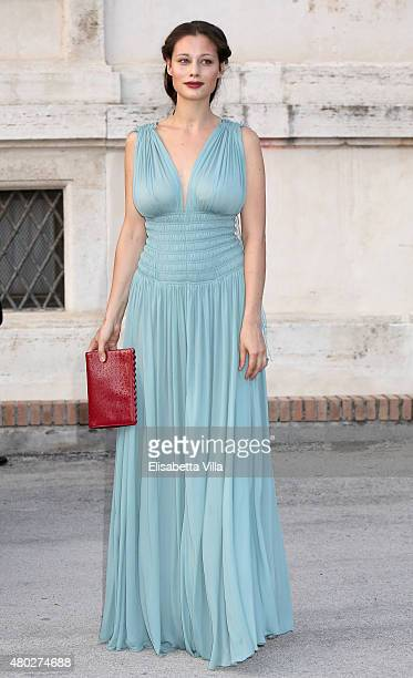 Marica Pellegrinelli attends 'Couture / Sculpture' Vernissage Cocktail honoring Azzedine Alaia in the history of fashion as part of AltaRoma AltaModa...