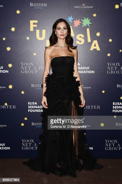 Marica Pellegrinelli attends Elisa Sednaoui Foundation and Yoox Net a Porter Event on March 28 2017 in Milan Italy