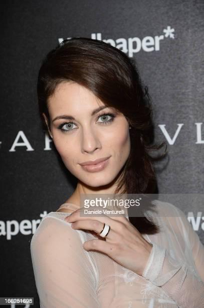 Marica Pellegrinelli attends the Bulgari Bzero1 during Salone del Mobile 2013 at Bulgari Hotel on April 10 2013 in Milan Italy