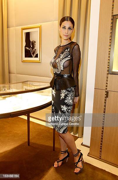 Marica Pellegrinelli attends the Cartier Boutique reopening cocktail party on October 5 2012 in Milan Italy