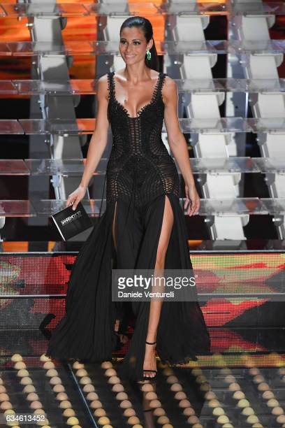 Marica Pellegrinelli attends the fourth night of the 67th Sanremo Festival 2017 at Teatro Ariston on February 10 2017 in Sanremo Italy