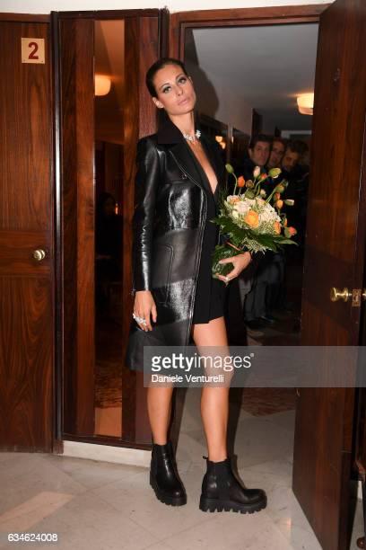 Marica Pellegrinelli attends the fourth night of the 67th Sanremo Festival 2017 at Teatro Ariston on February 10 2017 in Sanremo Italy
