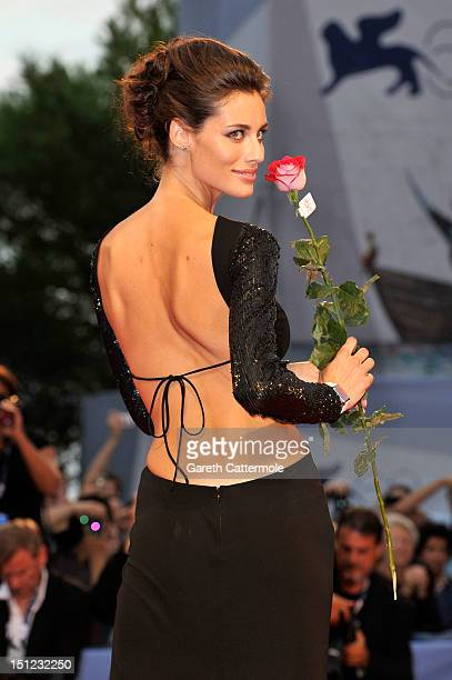 Marica Pellegrinelli attends the 'Lines Of Wellington' Premiere during The 69th Venice Film Festival at the Palazzo del Cinema on September 4 2012 in...