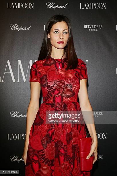 Marica Pellegrinelli in Valentino attends #THE ROYAL PUNK Party By Lampoon on February 23 2016 in Milan Italy