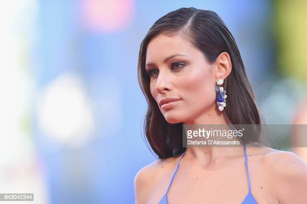 Marica Pellegrinelli walks the red carpet ahead of the 'mother' screening during the 74th Venice Film Festival at Sala Grande on September 5 2017 in...
