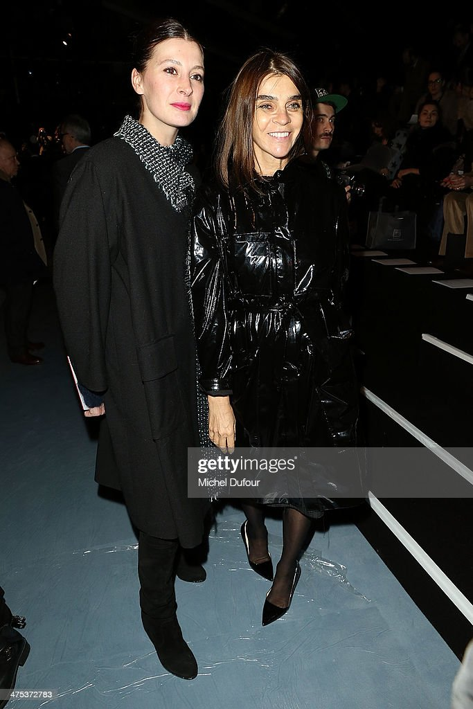 Marie Agnes Gilot and <a gi-track='captionPersonalityLinkClicked' href=/galleries/search?phrase=Carine+Roitfeld&family=editorial&specificpeople=240177 ng-click='$event.stopPropagation()'>Carine Roitfeld</a> attend the Nina Ricci show as part of the Paris Fashion Week Womenswear Fall/Winter 2014-2015 on February 27, 2014 in Paris, France.