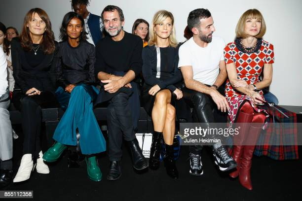 Marie Amelie Sauve Liya Kebede Eric Lartigau Marina Fois Nicolas Ghesquiere and Anna Wintour attend the Paco Rabanne show as part of the Spring...