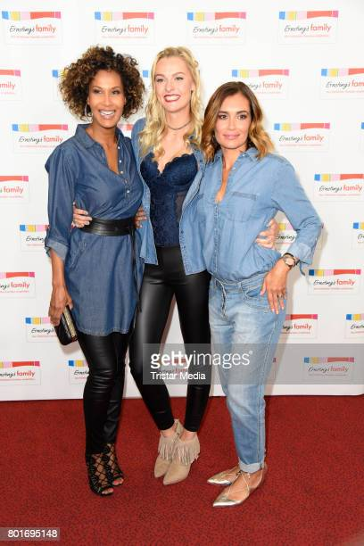 Marie Amerie Miriam Hoeller and Jana Ina Zarrella attend the Ernsting's Family Fashion Show at Stage Operettenhaus on June 26 2017 in Hamburg Germany