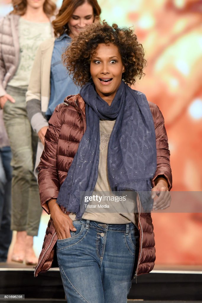 Marie Amerie walks the runway during the Ernsting's Family Fashion Show at Stage Operettenhaus on June 26, 2017 in Hamburg, Germany.